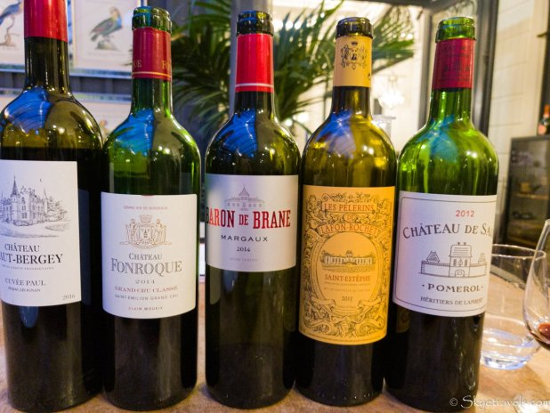 Wines at the Bordeaux Wine Workshop