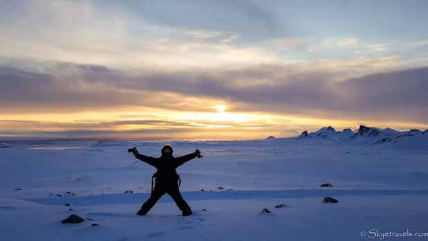 Luis on Langjokull Glacier for Sunset