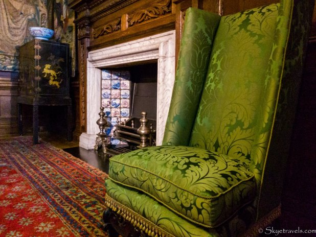 Holyrood Palace King's Closet Seat and Fireplace