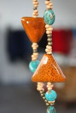 Statement necklace by Liza Hawthorne at Skyeworks Gallery