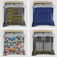 Airport Tag Duvet Covers
