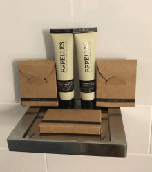 Mini Toiletries in a bathroom