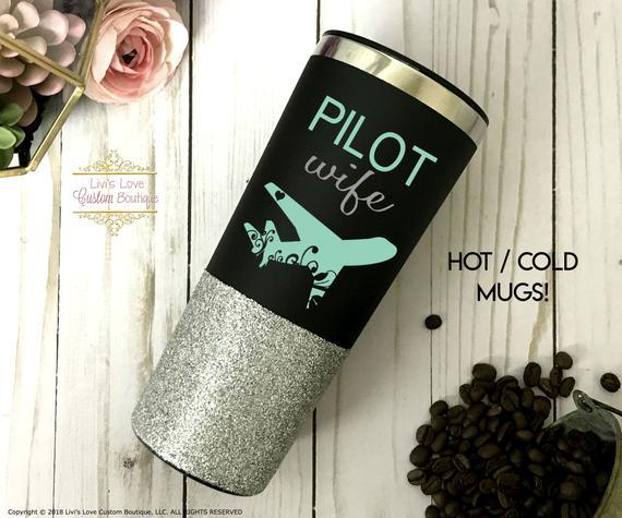 pilot wife coffee mug