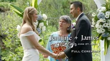 Jennie and James Wedding Ceremony