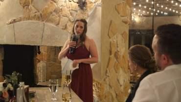 Kristy & Veric Wedding Reception Speeches – Leah