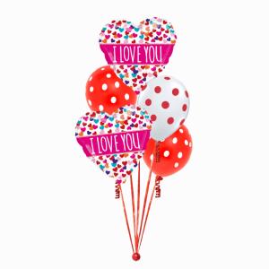 I Love You Foil & Latex Balloon Bouquet