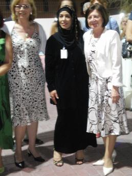 Maria Kaczyńska gości w Ambasadzie RP w Doha
