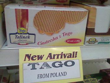Cały dedykowany regał dla polskiego Tago - w sklepie w Doha. Brawo!