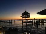 Sunset at Valentine's Marina.