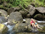 Enjoying the fresh water.