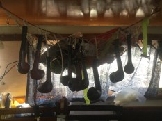 An impressive pipe collection belonging to a Swede on a 23 ft monohull that he sailed across the Atlantic!