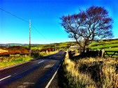 Cragg Vale, just after the road emerges from the wooded lower valley