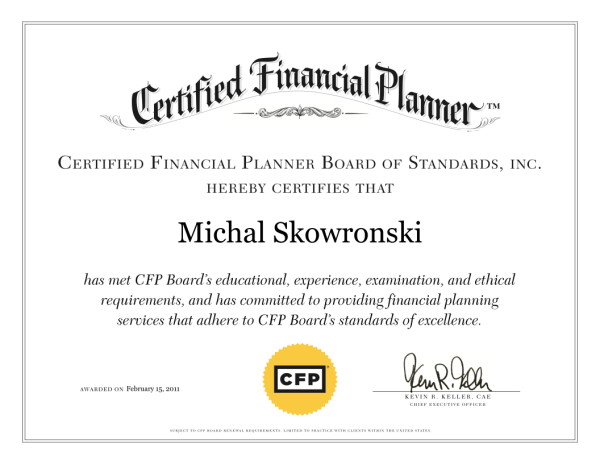 CFP Credential Certification