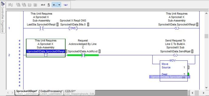 How to click and drag tag names in RSLogix 5000.