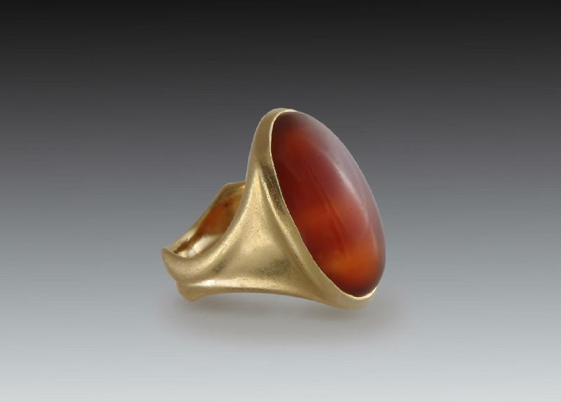 Carnelian Cabochon Mens Ring Skylight Jewelers