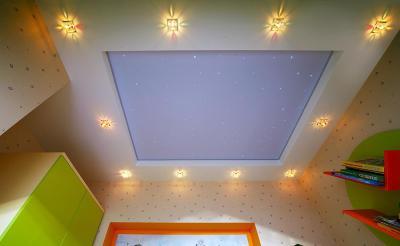 Натяжные потолки - звёздное небо - Скайлан в Оренбурге (1)