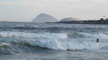 Huge waves on the beach