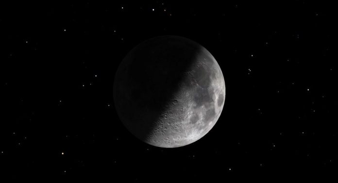 A diagram of the Moon at first quarter April 20, 2021. | SkyNews