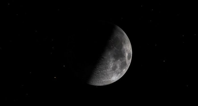 A diagram of the first quarter Moon on June 17, 2021.   SkyNews
