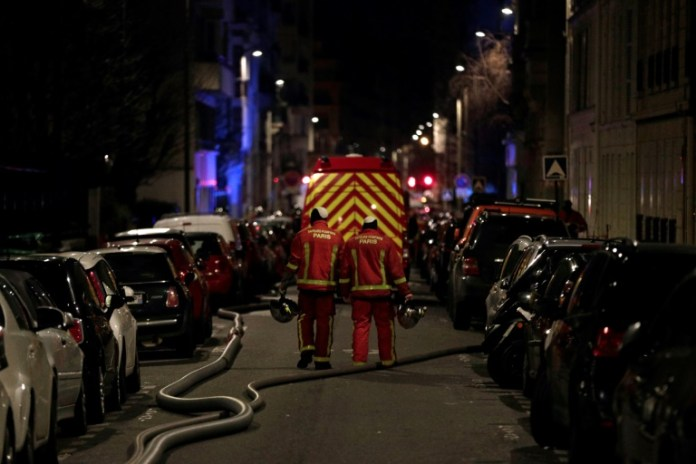 Seven people died and another was seriously injured in a fire which ripped through a building in a wealthy Paris neighbourhood on Monday night, the fire service said. The blaze in the French capital's trendy 16th arrondissement also left 27 people -- including three firefighters -- with minor injuries.