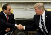 EL-SISI OF EGYPT MET PRESIDENT TRUMP AT THE WHITE HOUSE