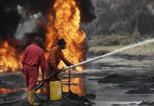 """""""The accident took place on Saturday in the Kom Kom area of Oyigbo, while a team of engineers were carrying out maintenance work on the pipeline,"""" Nnamdi Omono, spokesman for the Rivers State Police, told AFP. """"The number of victims is still unknown."""" On Sunday morning, the fire was contained, he added. Nigeria, Africa's largest oil producer, depends for more than two-thirds of its public revenues on oil."""