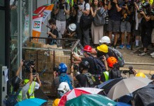 Violent clashes as Hong Kong marks China handover anniversary