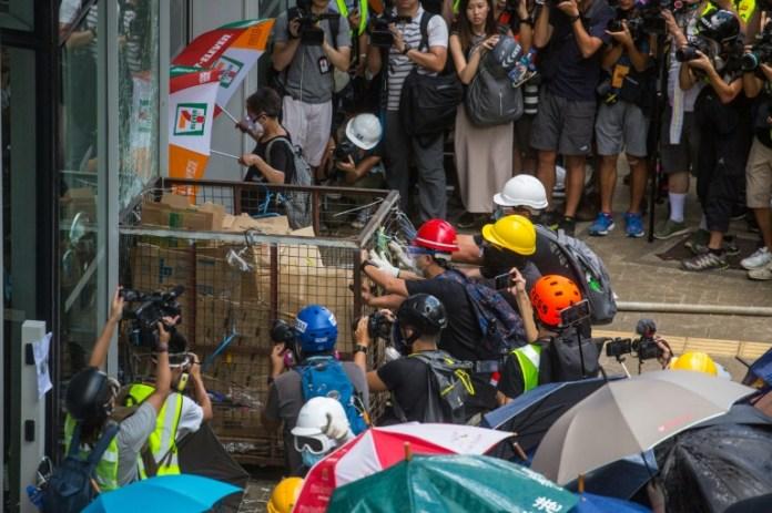 Violent clashes as Hong Kong marks China handover anniversary