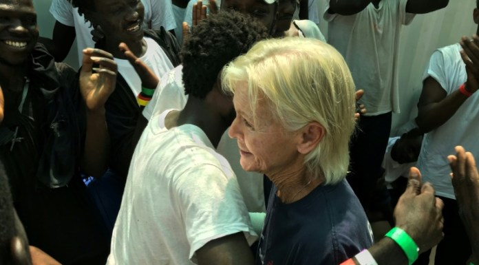 US nurse on migrant rescue ship reunited with Darfur boy she saved