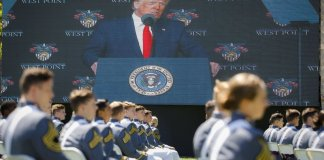 sky news africa At West Point, Trump appeals for unity in troubled times