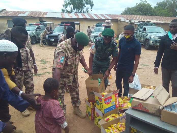 sky news africa Nigeria's Military taskforce battle virus with gifts, love