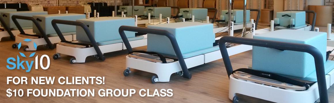 Sky10 – $10 Pilates Foundation Group Classes