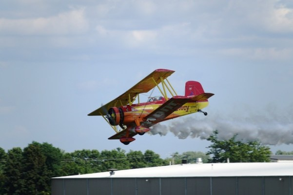 biplane, airshow