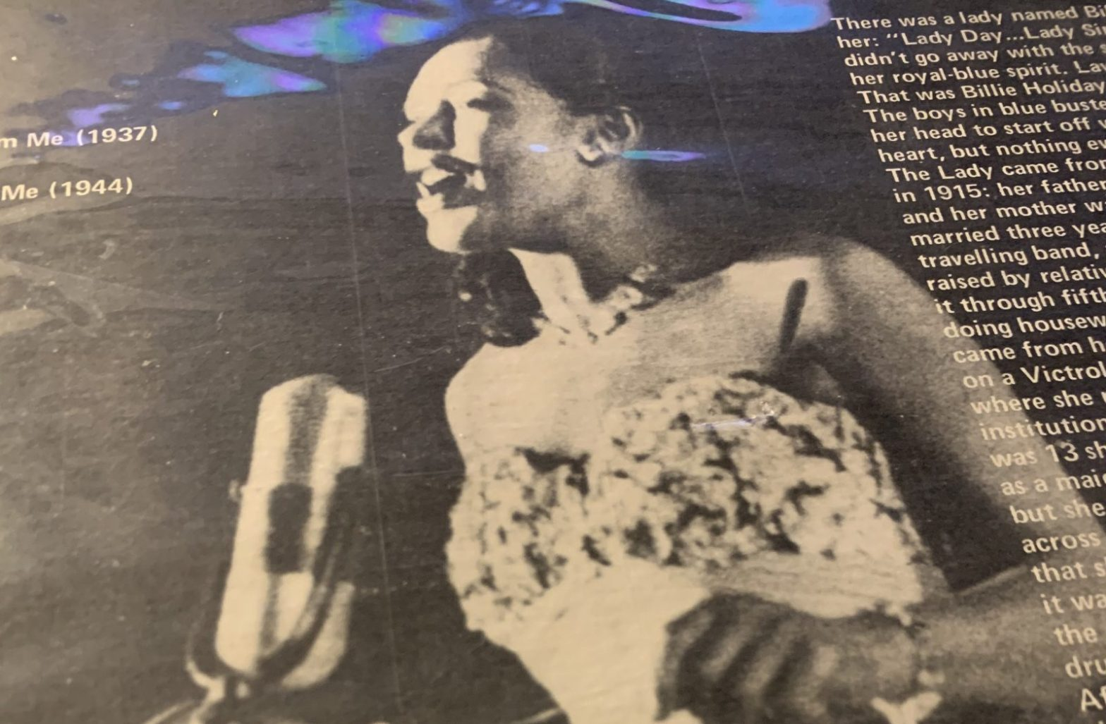Billie Holiday music on vinyl record