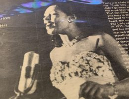 Billie Holiday music on vinyl record