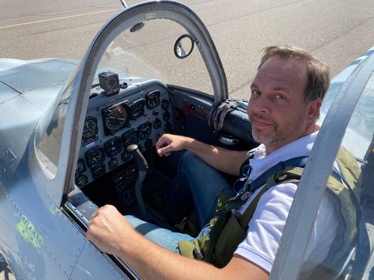 Don M. Jones in T-34 Cockpit