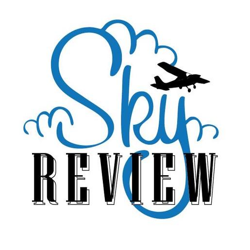 Sky Review Logo, aviation, flying, sky review, skyreview, airtime - a sky review podcast, aircraft pilot, general aviation
