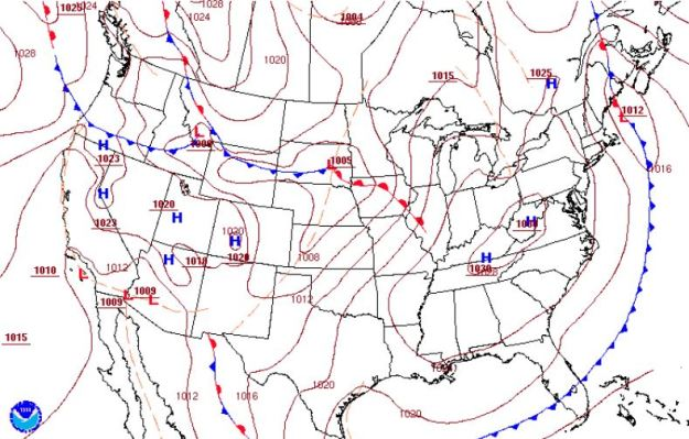 Surface Analysis Chart (fronts only)