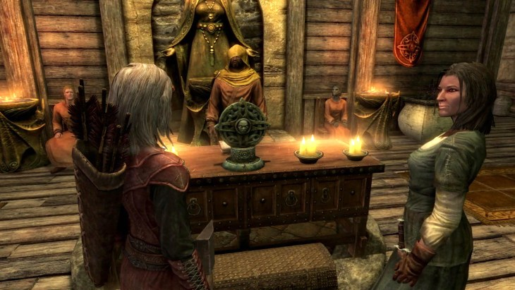 Wedding with Gilfre in the Temple of Mara in Riften in Skyrim