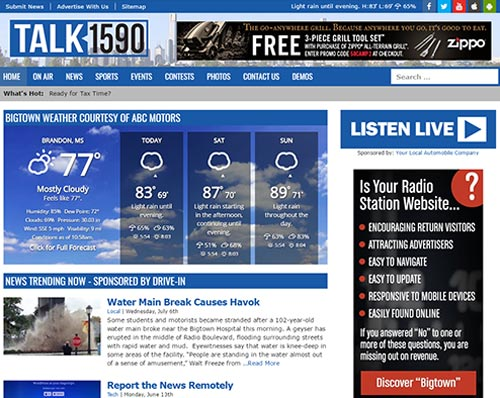 Bigtown Radio Station Website