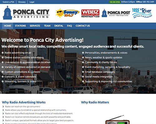 Ponca City Advertising