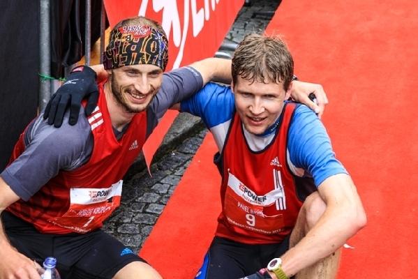 Robert a Pavel Brýdl v cíli 2012