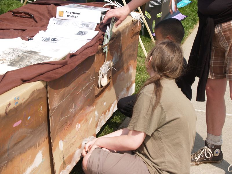 Master Gardener activity table had participants exploring the layers of soil