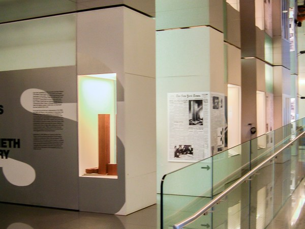 """Gallery view of the exhibition """"GIANTS: The Twin Towers and the Twentieth Century"""""""