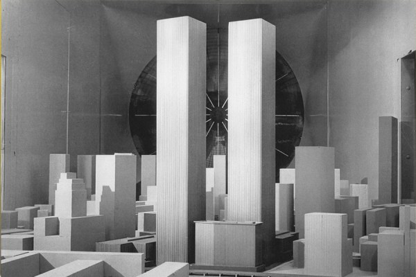 Wind Tunnel model of the World Trade center