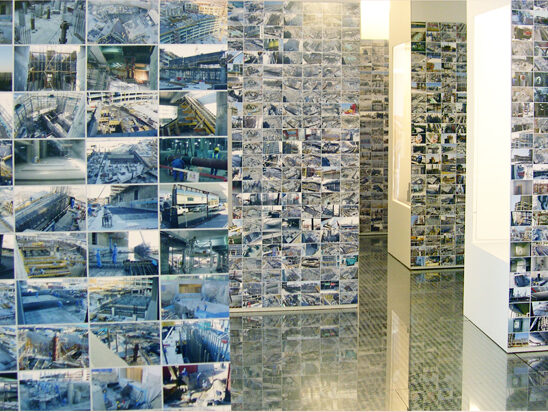 Gallery view of back of cases showing construction photographs in a grid layout