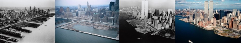 Left to right: Thomas Airviews/ Collection of the New York Historical Society, Collection of the Port Authority of New York & New Jersey, Thomas Airviews/ Collection of the New York Historical Society
