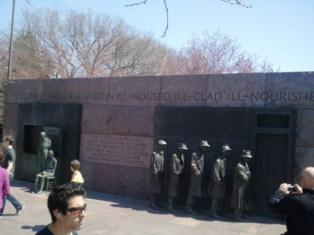 FDR Memorial Breadline