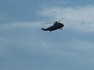I counted NINE helicopters in a one hour period this day!