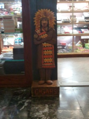 This is a cigar store, and I'm vaguely uncomfortable about the artwork at the entrance.